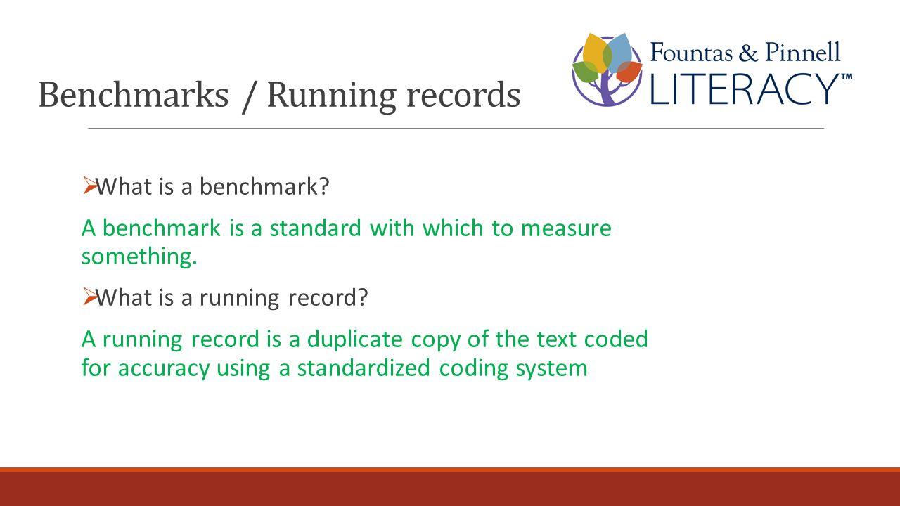 Benchmarks / Running records