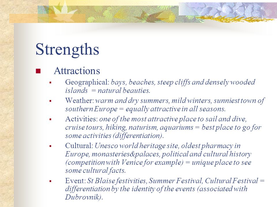 Strengths Attractions