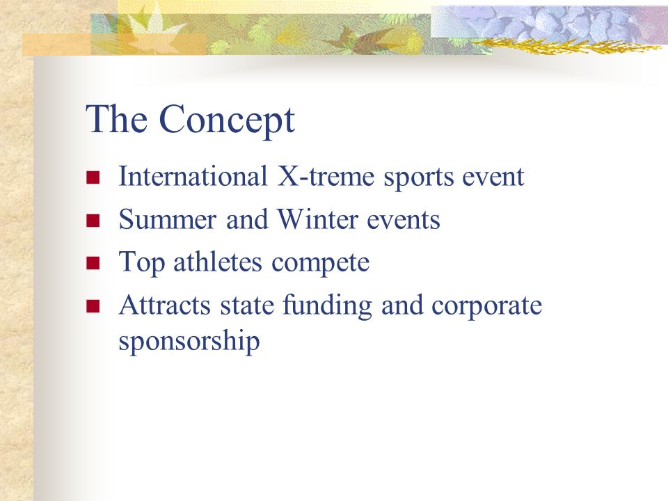 The Concept International X-treme sports event