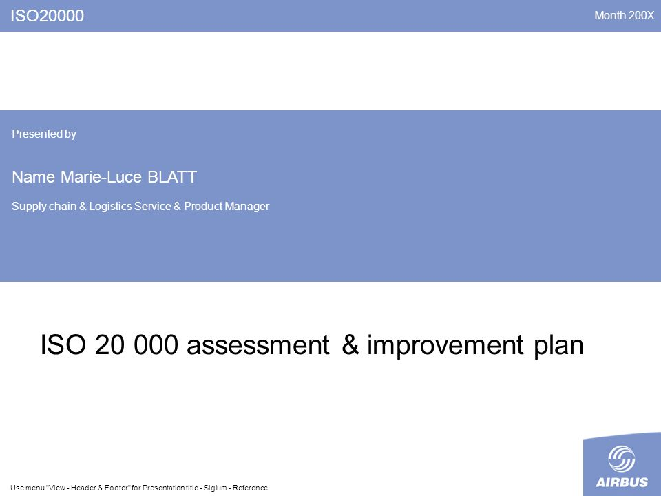 ISO assessment & improvement plan