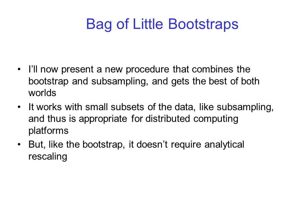 Bag of Little Bootstraps