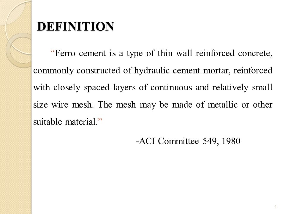FERROCEMENT Presented by, - ppt video online download