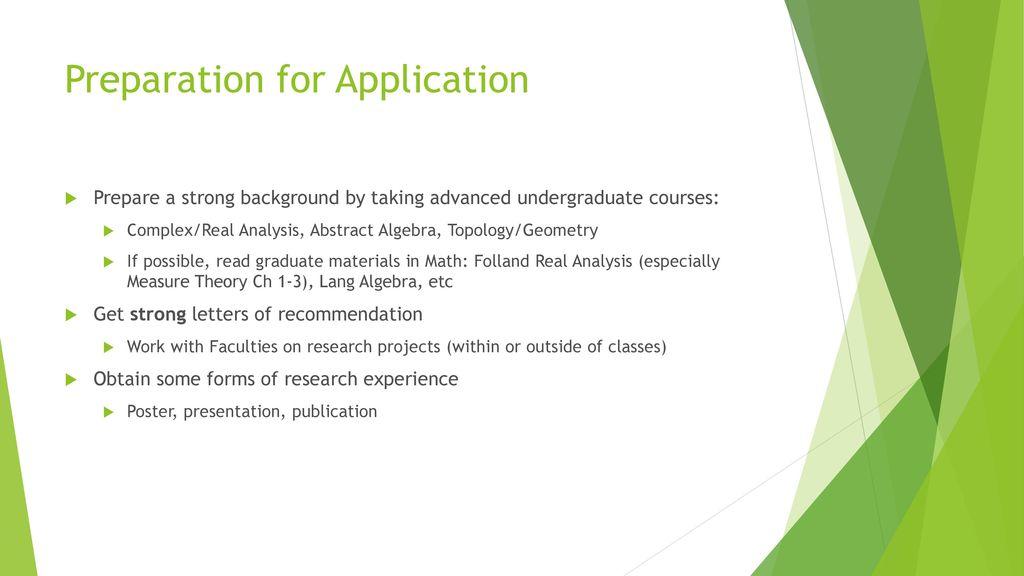 Graduate School in Mathematics - ppt download