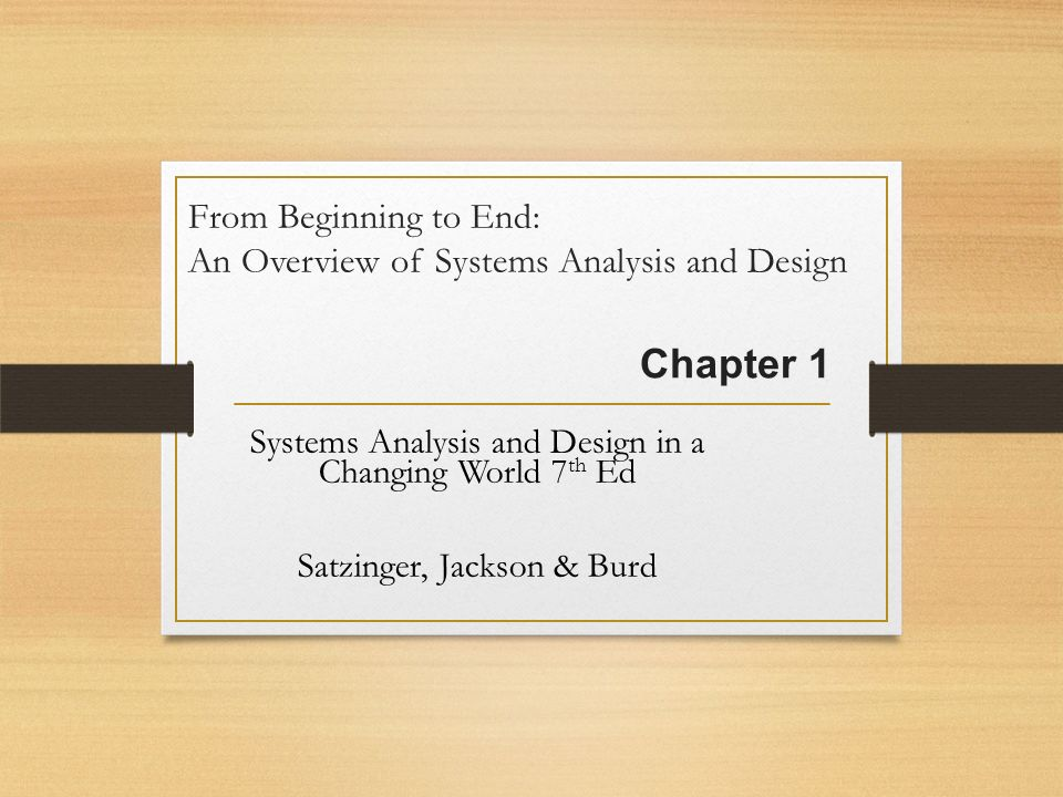 Chapter 1 systems analysis and design in a changing world 7th 2 from fandeluxe Image collections