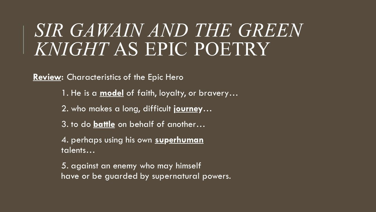 sir gawain and the green knight middle english