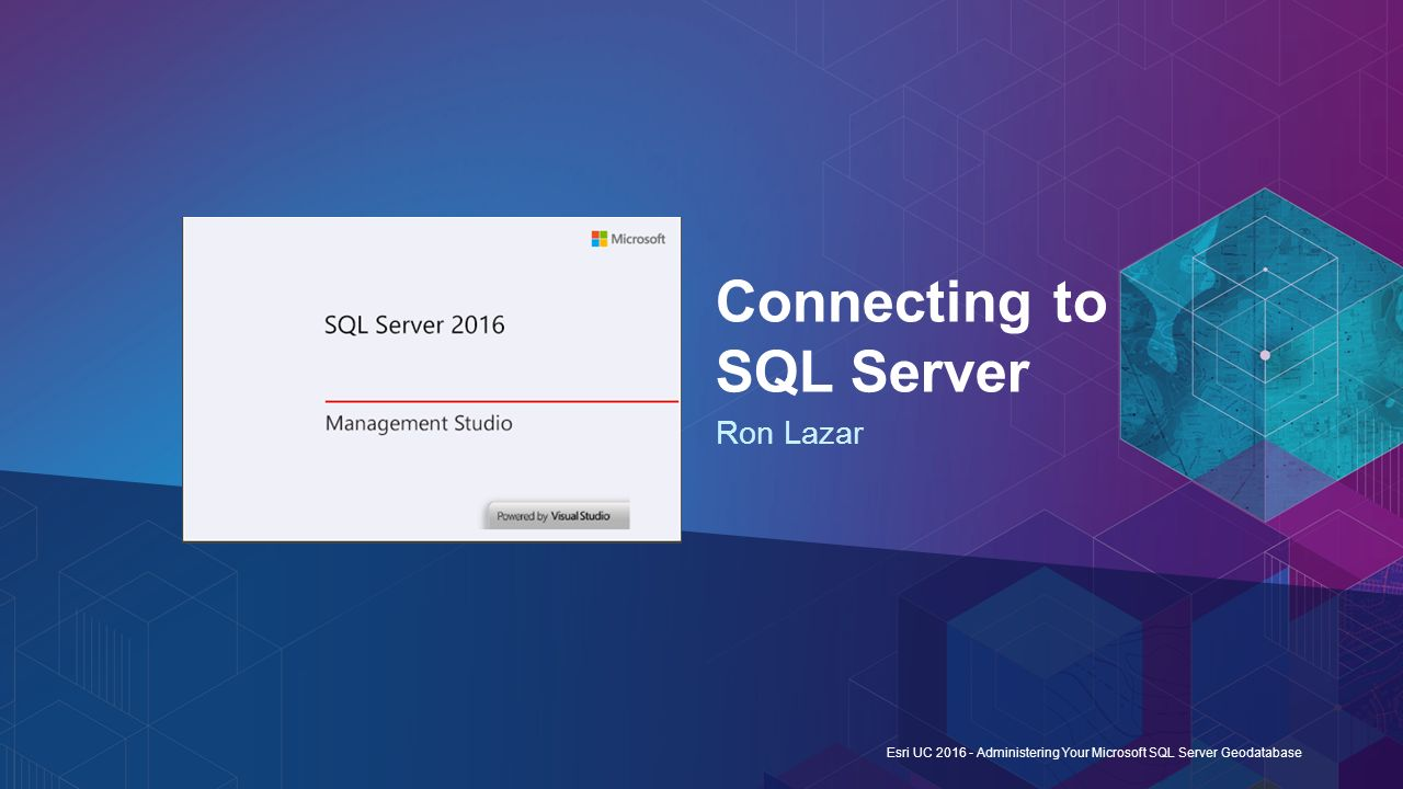 Connecting to SQL Server