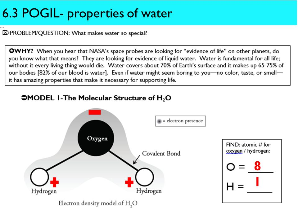6.3 POGIL- properties of water - ppt download