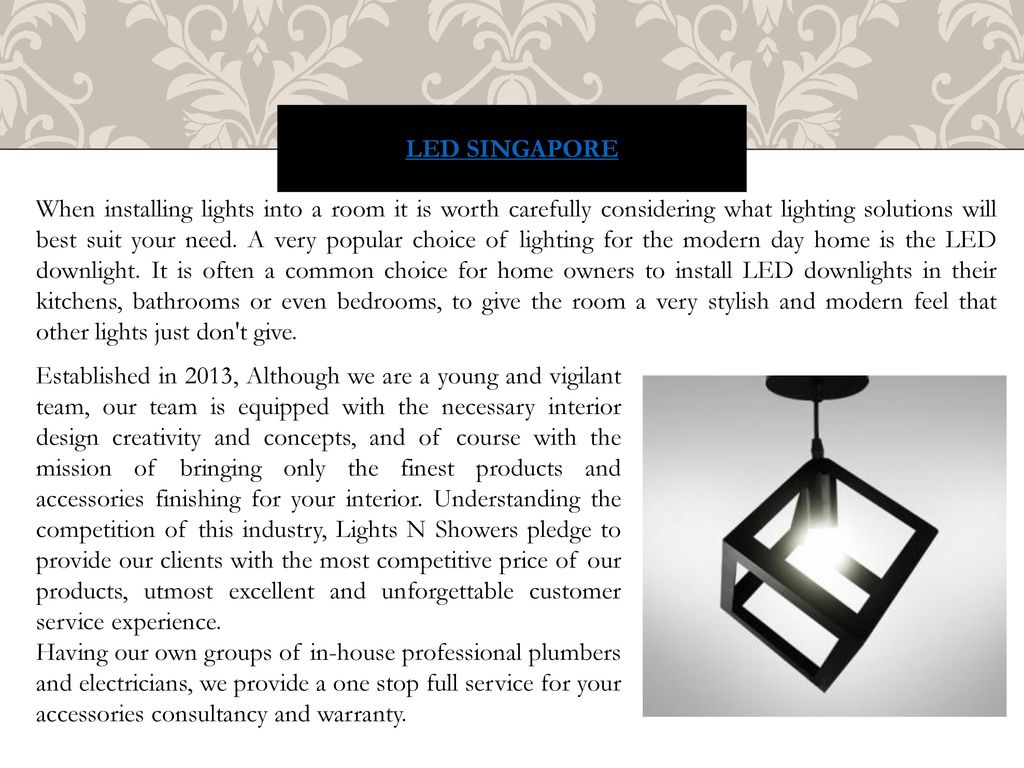 Led Downlights Are A Preferred Choice Of Light Fixture For False Wiring Singapore