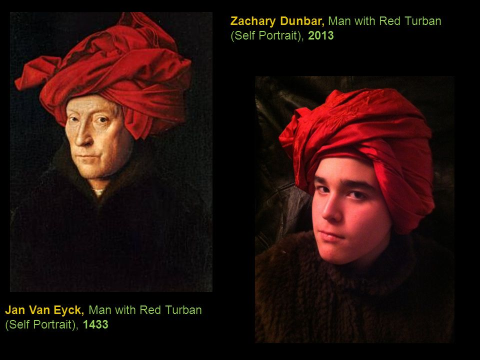 Zachary Dunbar, Man with Red Turban (Self Portrait), 2013