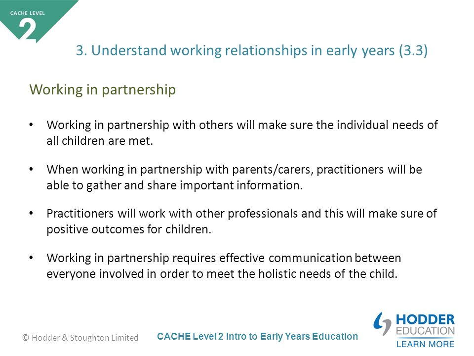 why is it important to work in partnership with others