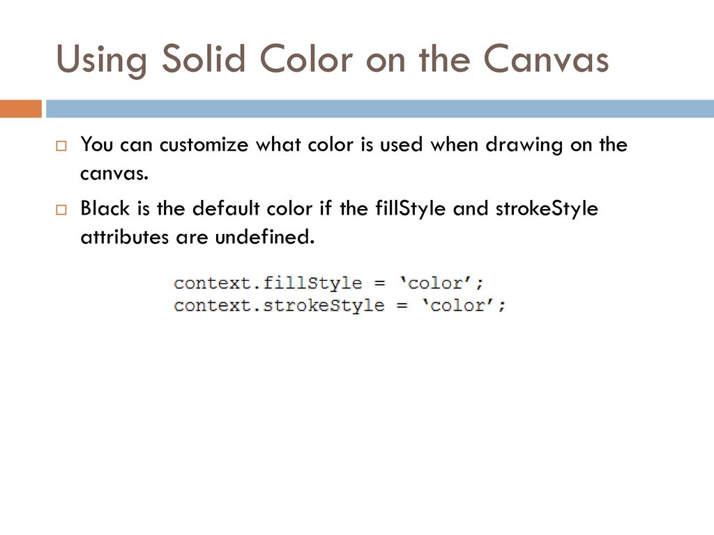 Canvas Fillstyle