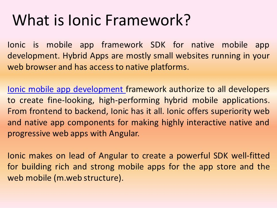 Progressive Web App Framework