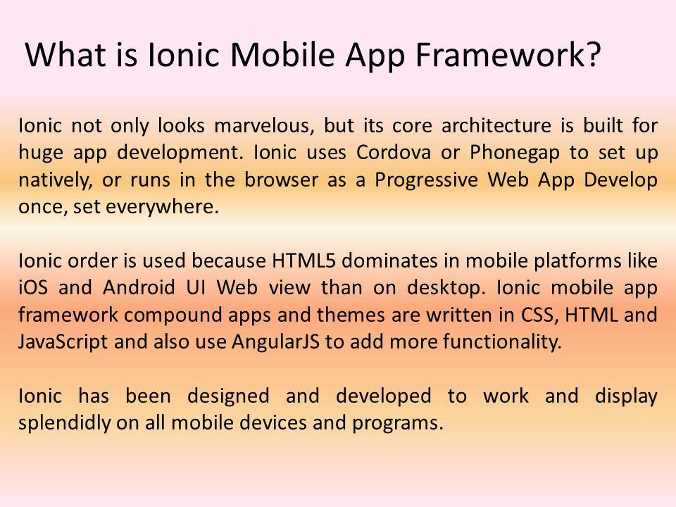 Ionic Mobile App Development Services - ppt video online download