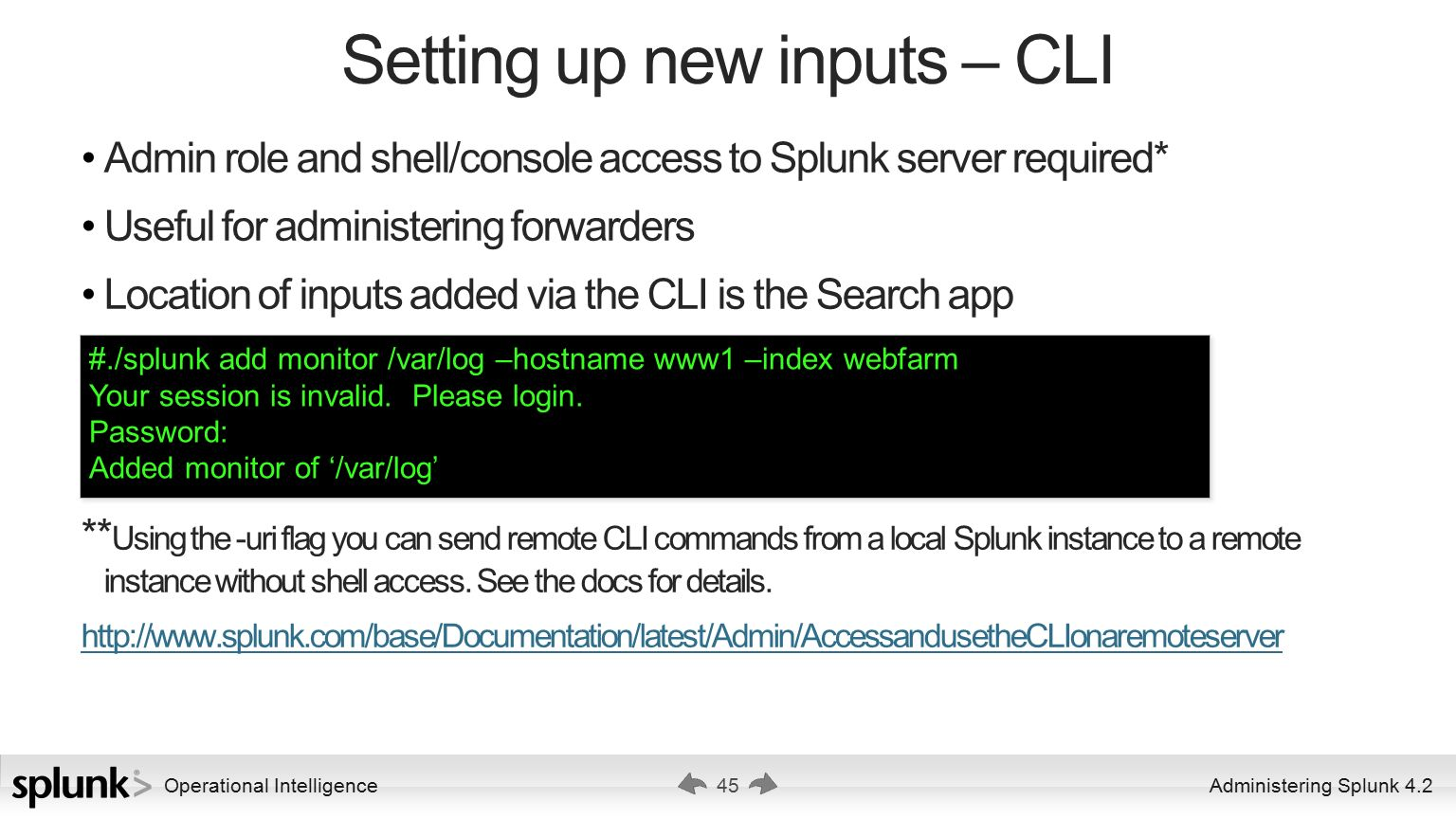 Administering Splunk 4 2 Ver ppt download