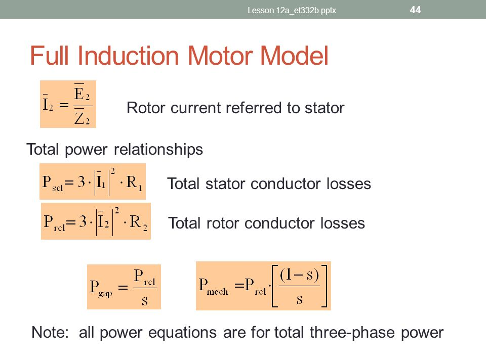 Full Induction Motor Model