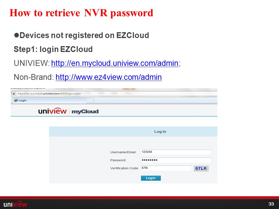HOW TO USE UNIVIEW PRODUCT-NVR - ppt video online download