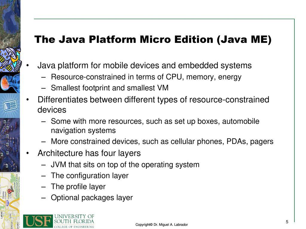 The Java Platform Micro Edition Java ME - ppt download