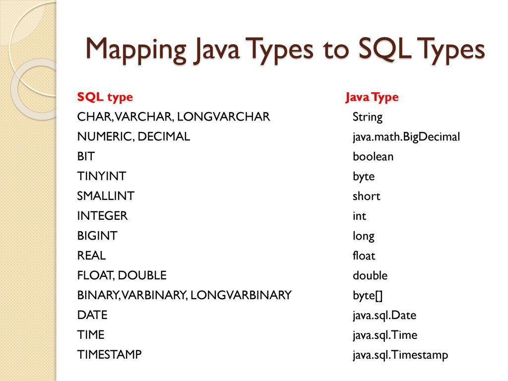 Java Database Connectivity: JDBC - ppt download
