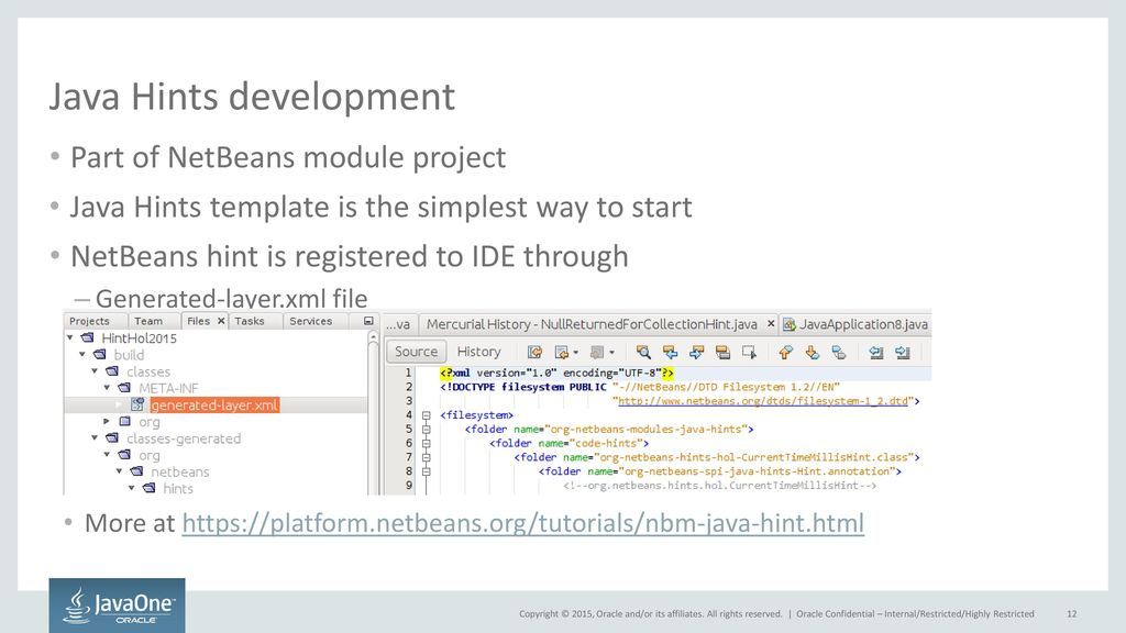Empowering the NetBeans IDE with New Java Hints - ppt video