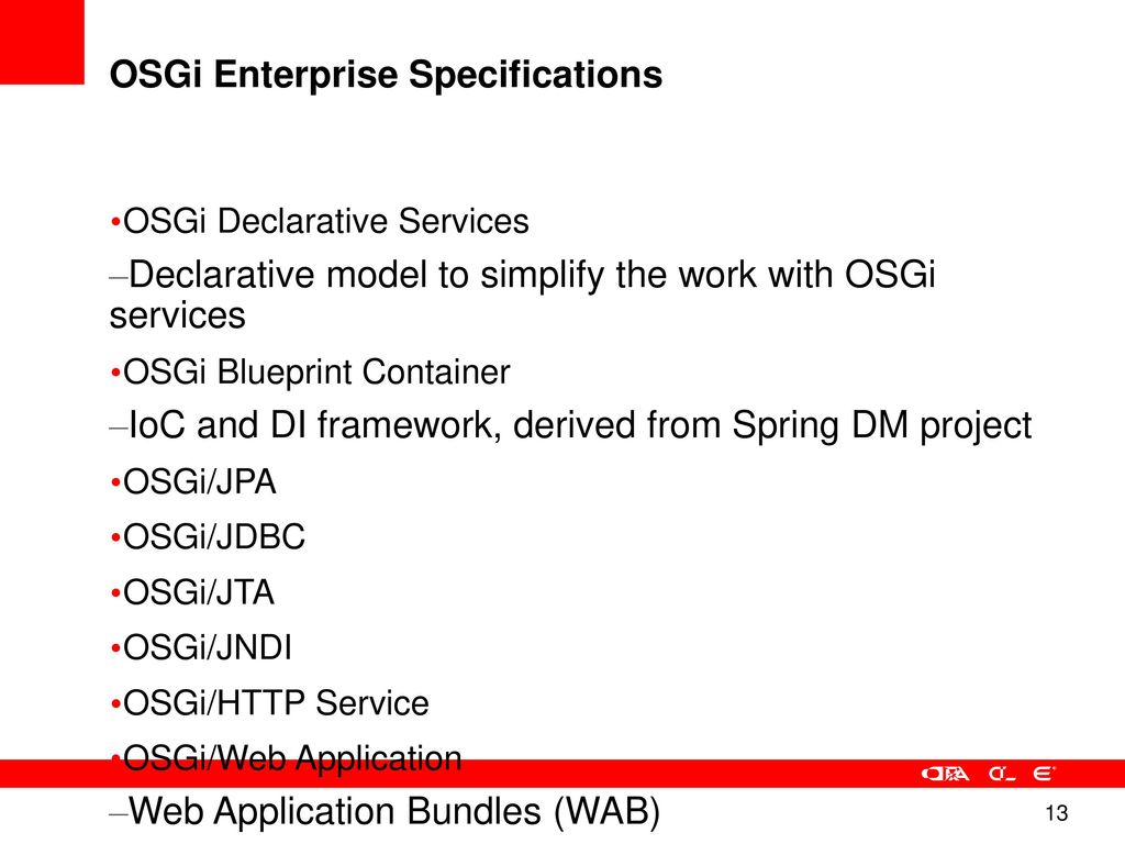 Glassfish osgi a modular runtime for hybrid applications ppt osgi enterprise specifications malvernweather Images