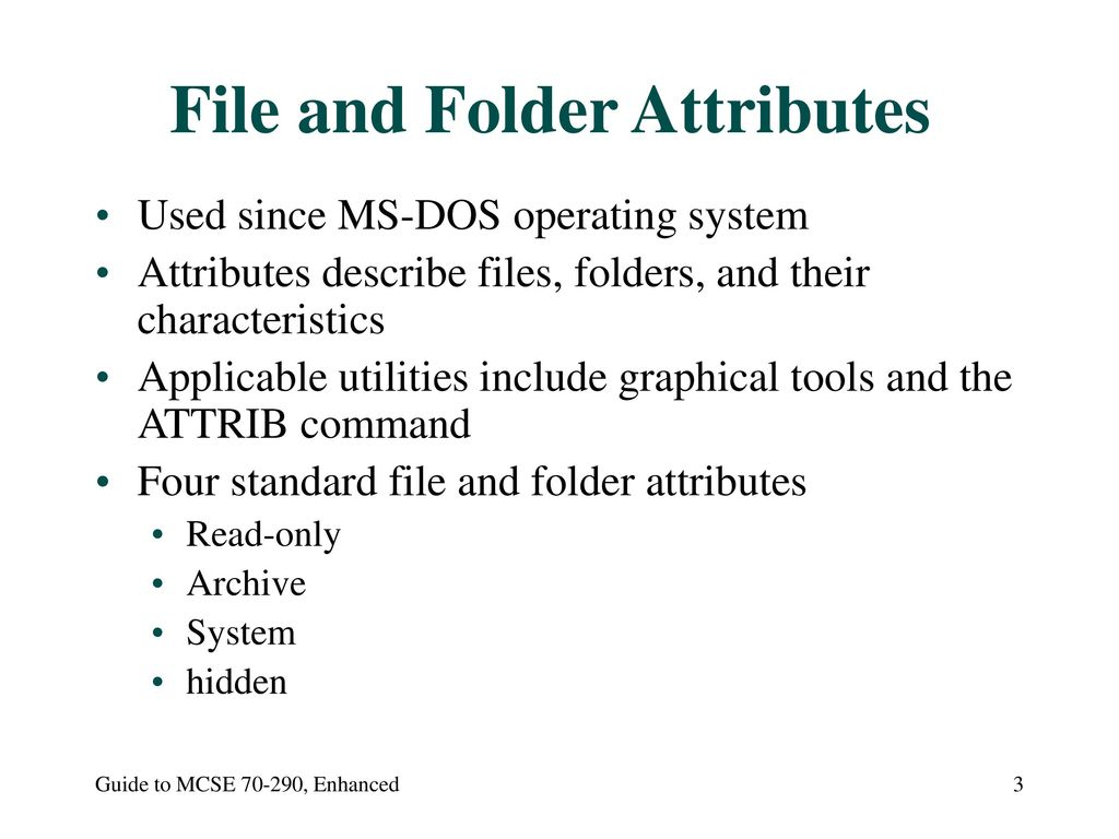 70-290: MCSE Guide to Managing a Microsoft Windows Server