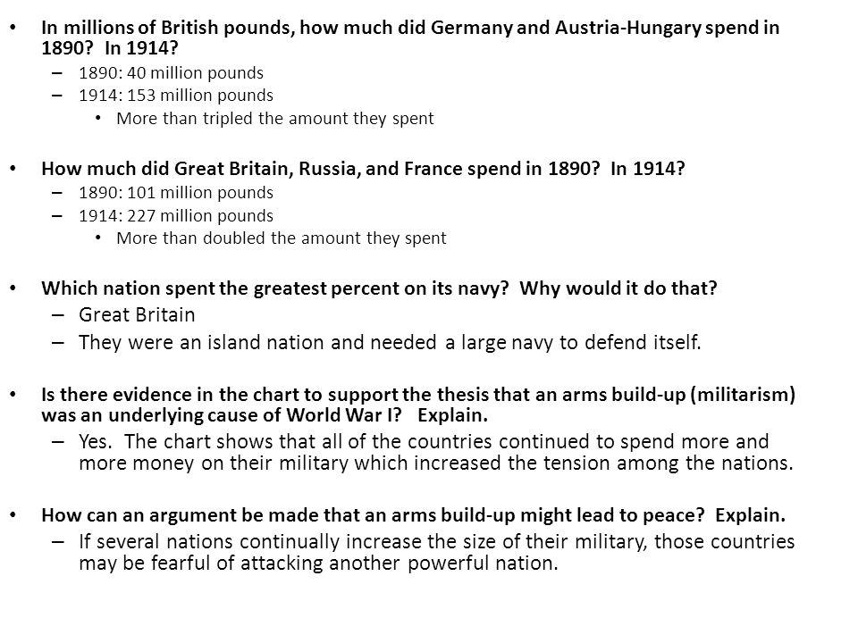 what was the underlying cause of ww1
