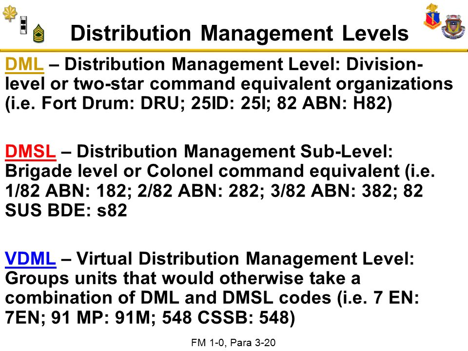 13 Distribution Management Levels