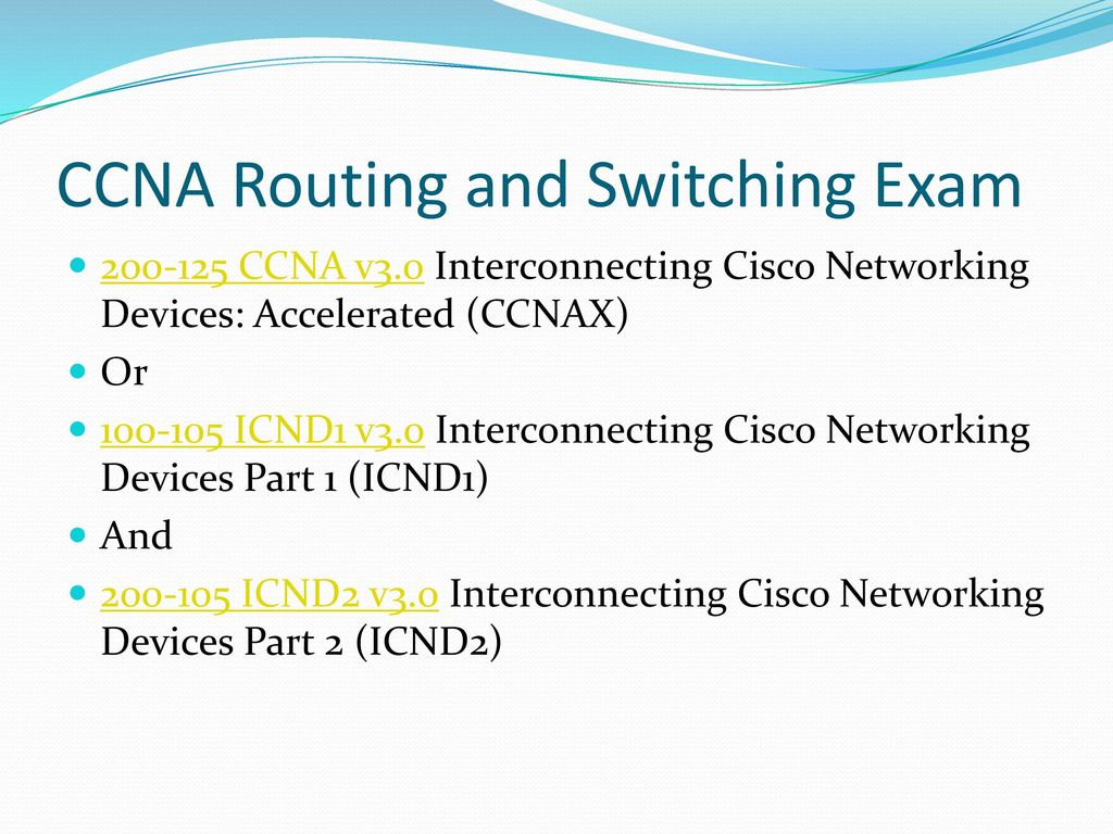 ICND1 v3 0 Exam CCNA Routing and Switching ICND1 Exam - ppt video