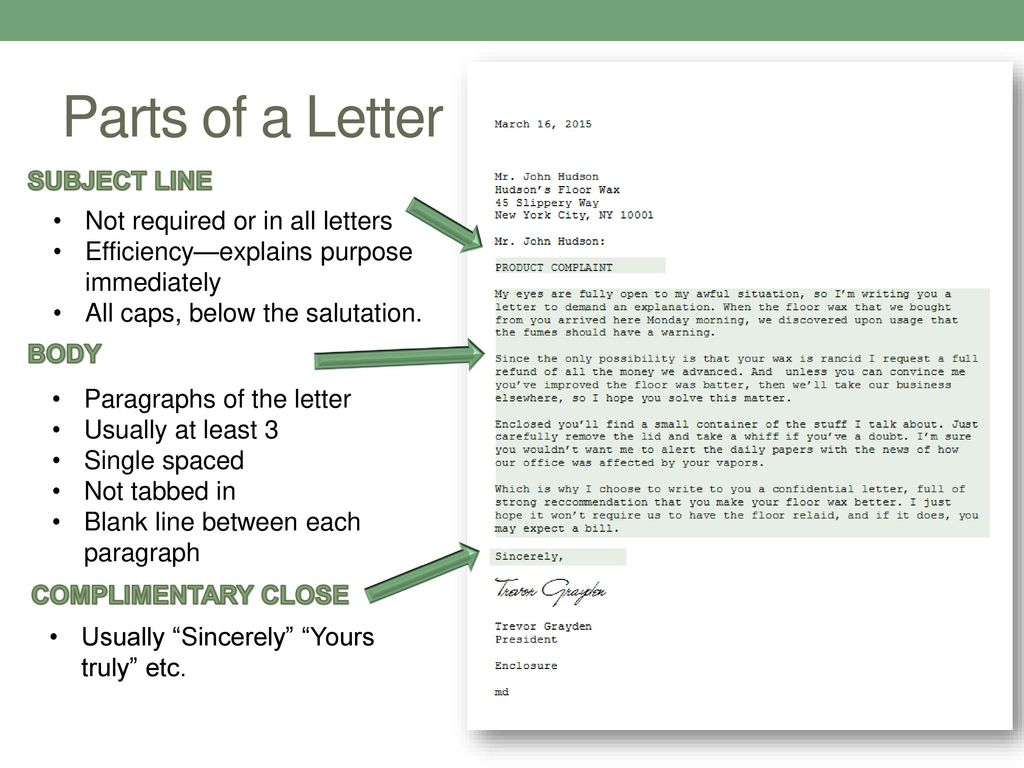 Subject Line In Business Letter from slideplayer.com
