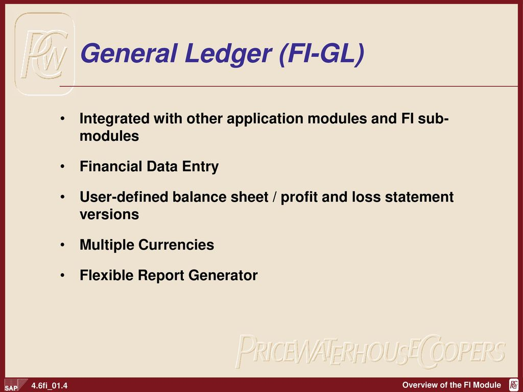 General Ledger (FI-GL)