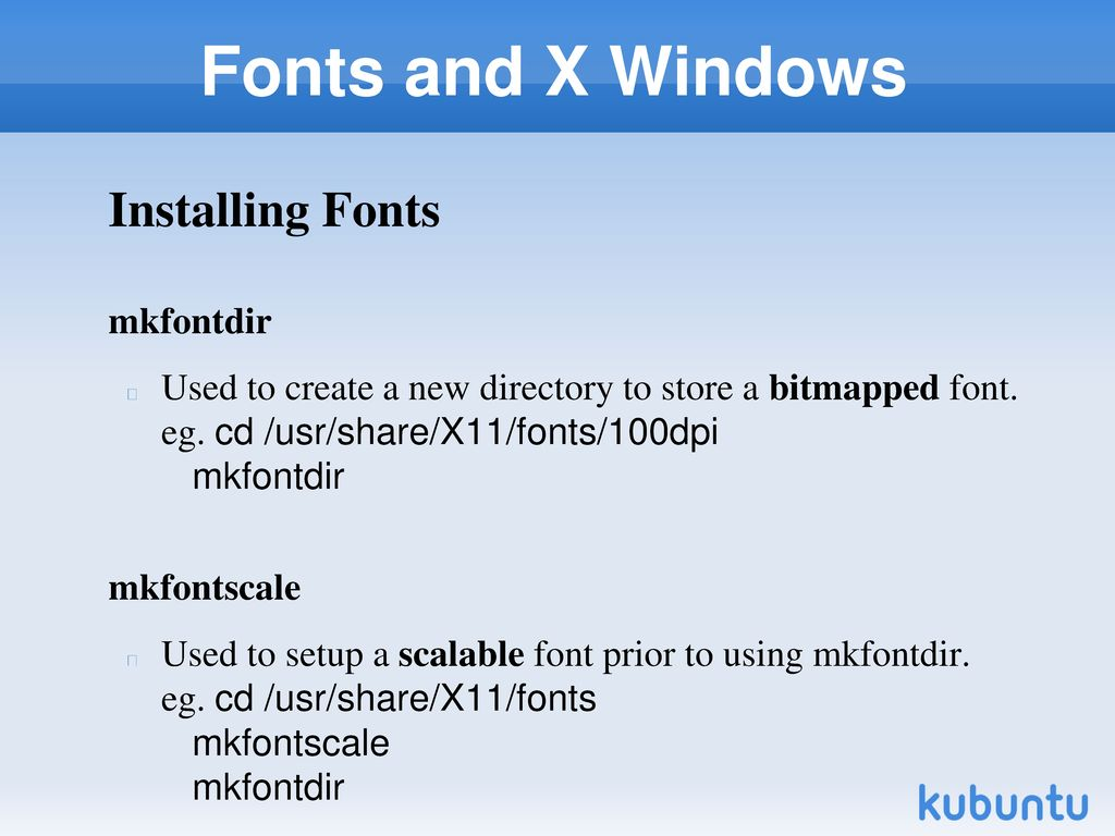 X-Windows Configuring and Using Fonts and X Windows (Chapter 10