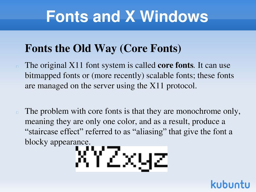 X-Windows Configuring and Using Fonts and X Windows (Chapter