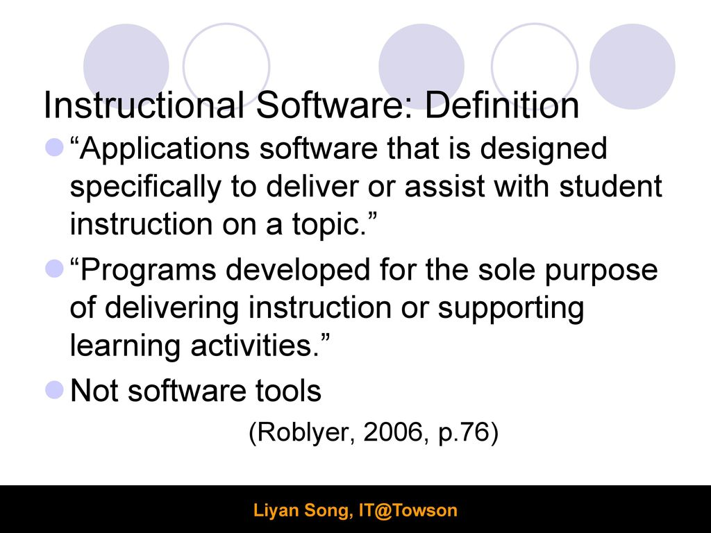 Agenda Instructional Software Software Evaluation Project Ppt