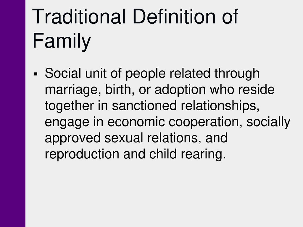 chapter 15 families. - ppt download