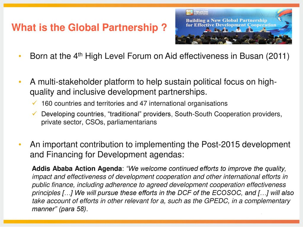 Session 2 The Global Partnership For Effective Development Co