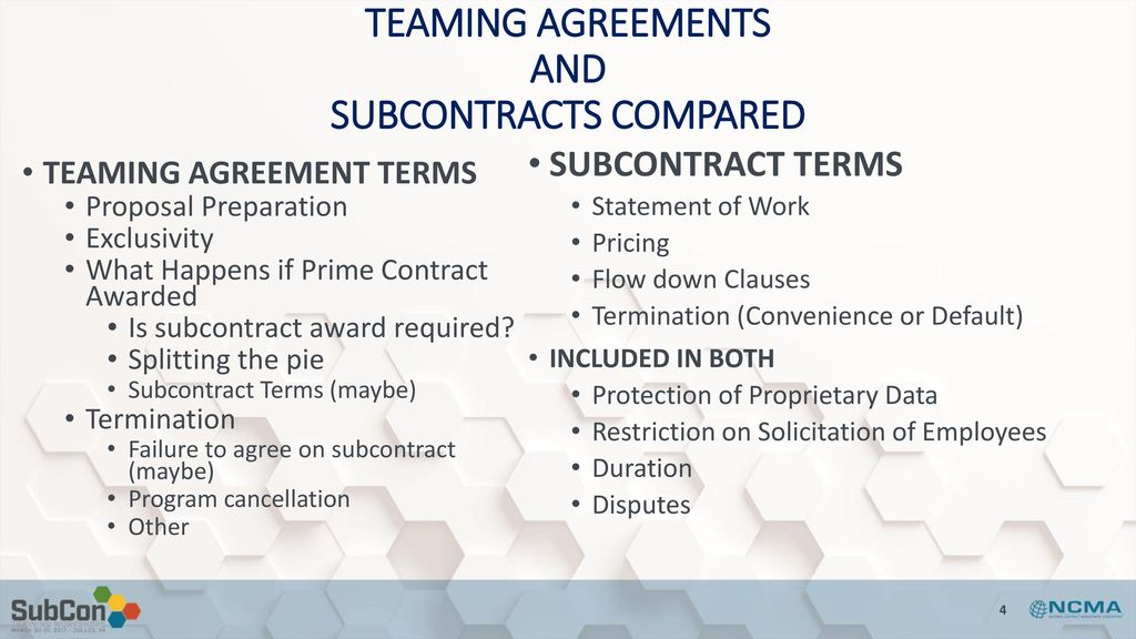 Government Contract Teaming A Subcontractor Perspective Ppt Download