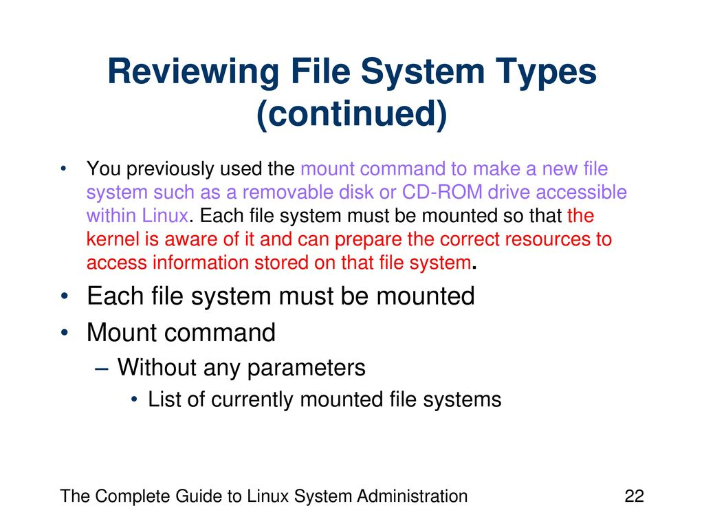 Chapter 10: Managing Software Packages and File Systems - ppt video