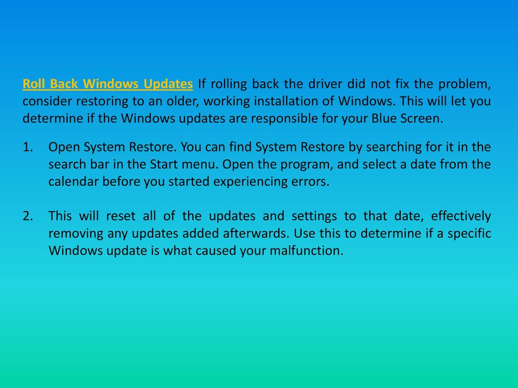 How to Fix the Blue Screen of Death on Windows - ppt video