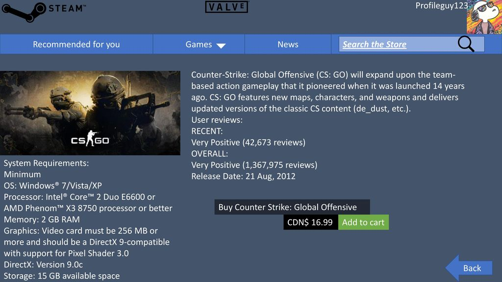 Store Daily Deal Counter Strike: Global Offensive $ ppt download