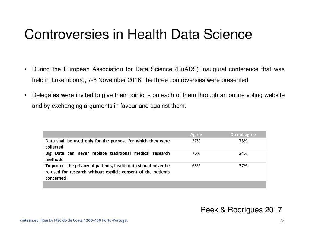 Controversies in Data Science for Health Research - ppt download