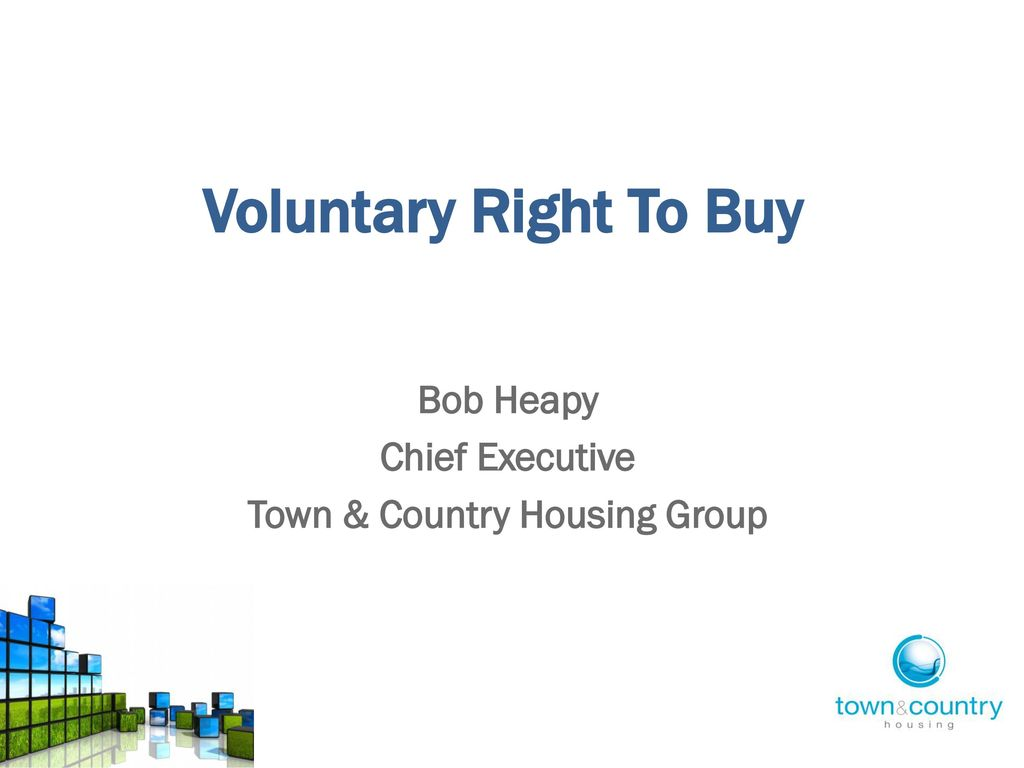 Bob Heapy Chief Executive Town & Country Housing Group - ppt download