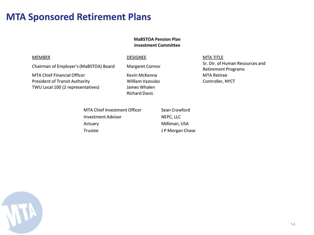 mta deferred compensation Table of Contents Executive Summary - ppt video online download