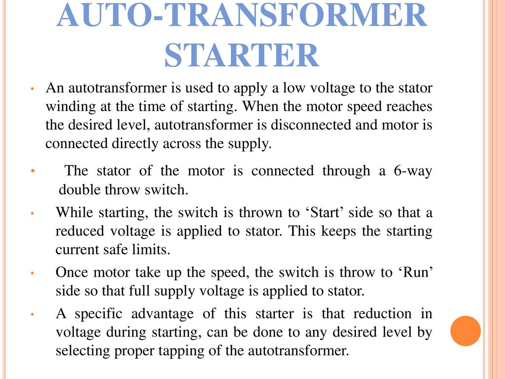 Electrical Department Element Of Electric Design Ppt Video Online Autotransformer Motor Starter Wiring Diagram 5 Auto Transformer