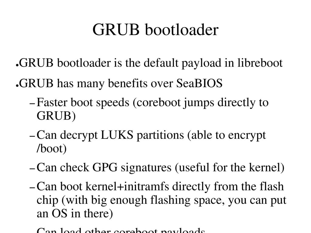 Libreboot Free boot firmware for ARM, POWER and x86 - ppt video