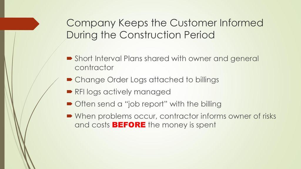 Best Practices of the Best Contractors - ppt video online