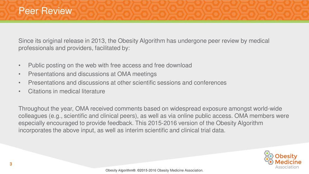 Obesity Algorithm C Obesity Medicine Association Ppt Download