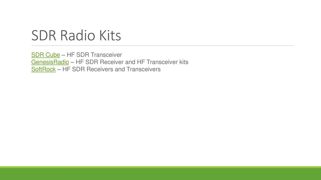 Software Defined Radio (SDR) - ppt video online download