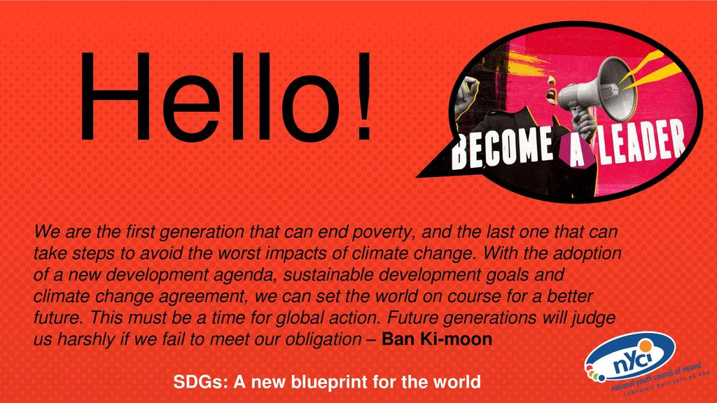 Sustainable development goals and youth ppt download sdgs a new blueprint for the world malvernweather Choice Image