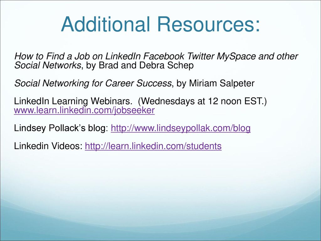 Using Social Media in Your Job Search - ppt download