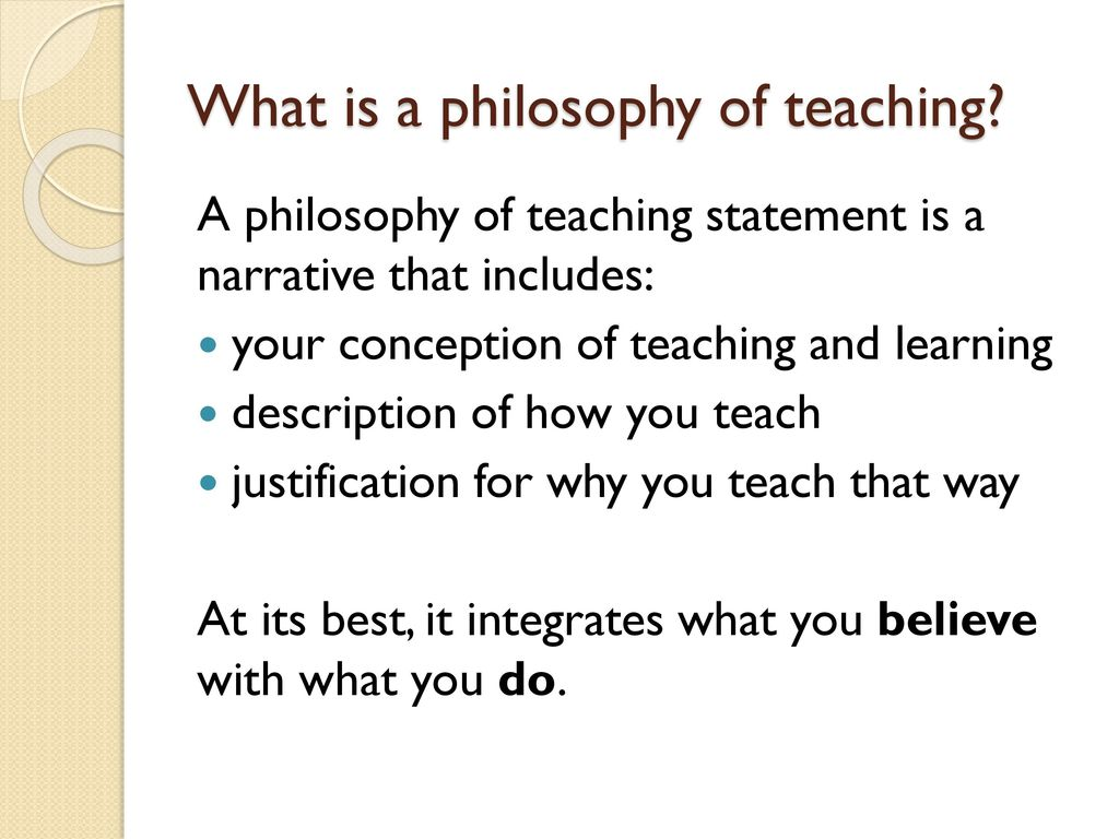 What is my teaching philosophy? Insights from our teaching